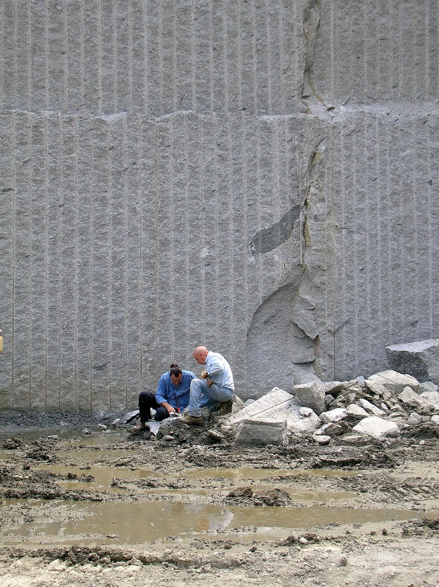 muro di cava lavorato